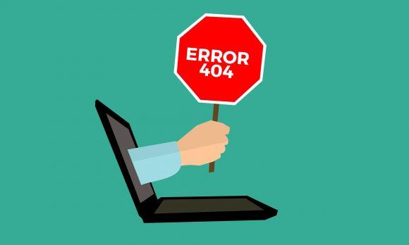 Błąd 404 na mojej stronie