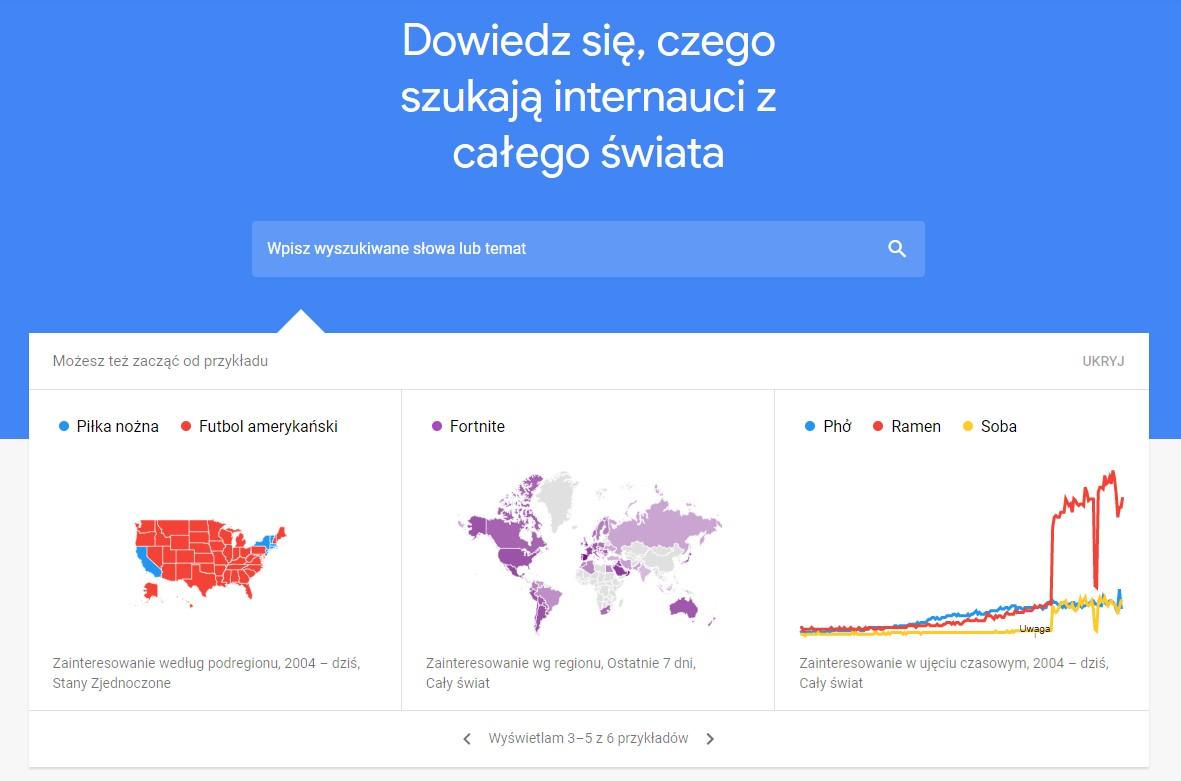Google Trends – darmowe narzędzie do śledzenia trendów w internecie